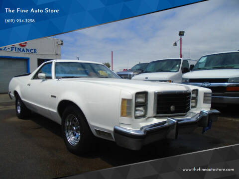 1978 Ford Ranchero for sale at The Fine Auto Store in Imperial Beach CA
