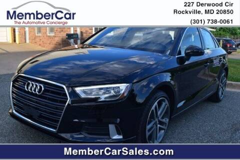 2019 Audi A3 for sale at MemberCar in Rockville MD