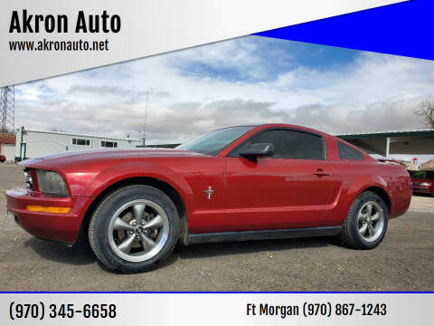 2006 Ford Mustang for sale at Akron Auto - Fort Morgan in Fort Morgan CO