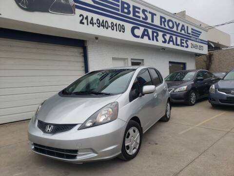2012 Honda Fit for sale at Best Royal Car Sales in Dallas TX