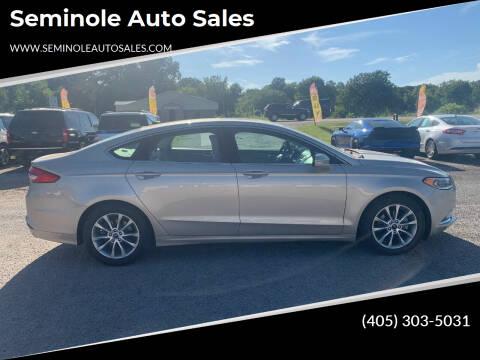 2017 Ford Fusion for sale at Seminole Auto Sales in Seminole OK