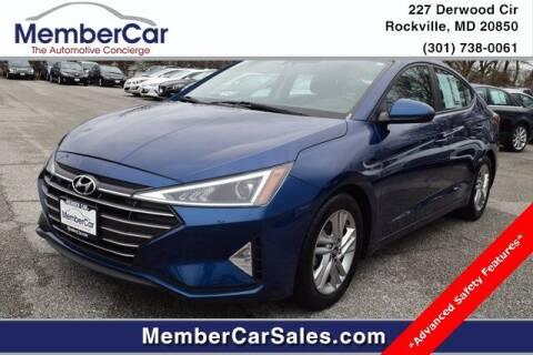 2019 Hyundai Elantra for sale at MemberCar in Rockville MD
