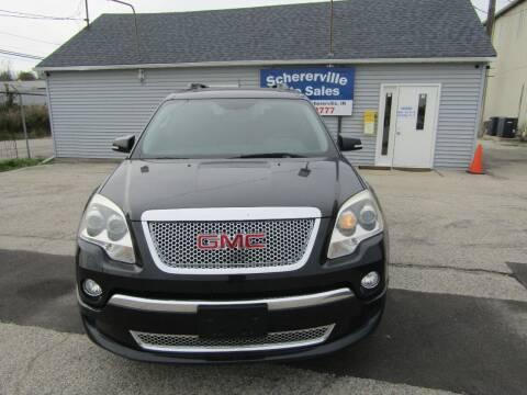 2012 GMC Acadia for sale at SCHERERVILLE AUTO SALES in Schererville IN