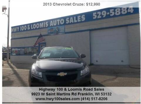 2013 Chevrolet Cruze for sale at Highway 100 & Loomis Road Sales in Franklin WI