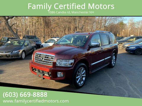 2010 Infiniti QX56 for sale at Family Certified Motors in Manchester NH