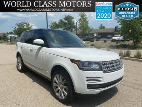 2014 Land Rover Range Rover for sale at World Class Motors LLC in Noblesville IN