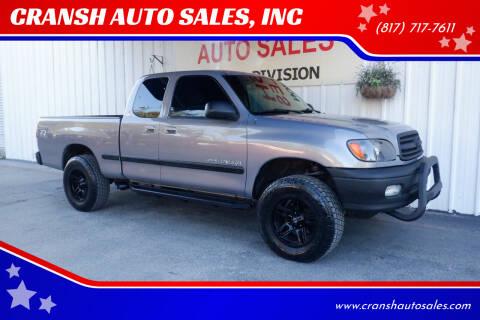 2002 Toyota Tundra for sale at CRANSH AUTO SALES, INC in Arlington TX
