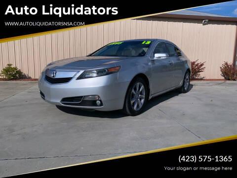 2013 Acura TL for sale at Auto Liquidators in Bluff City TN