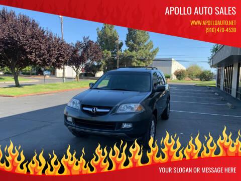 2005 Acura MDX for sale at APOLLO AUTO SALES in Sacramento CA