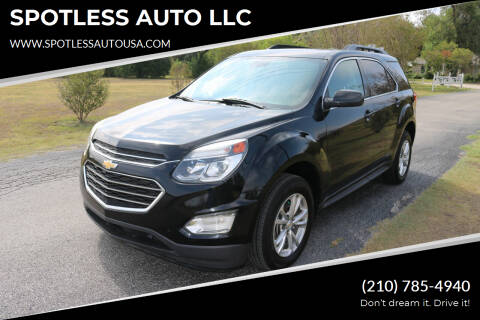 2017 Chevrolet Equinox for sale at SPOTLESS AUTO LLC in San Antonio TX