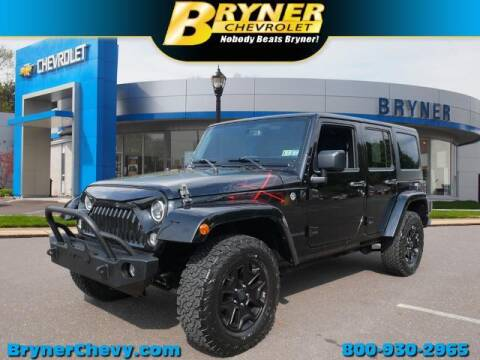 2016 Jeep Wrangler Unlimited for sale at BRYNER CHEVROLET in Jenkintown PA