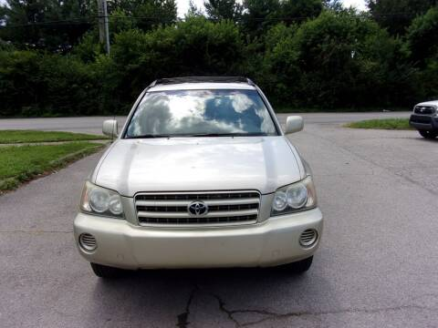 2002 Toyota Highlander for sale at Auto Sales Sheila, Inc in Louisville KY