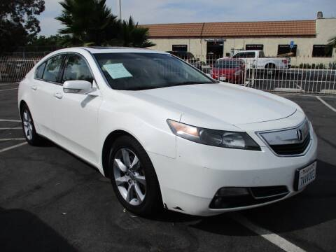2012 Acura TL for sale at F & A Car Sales Inc in Ontario CA