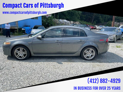 2008 Acura TL for sale at Compact Cars of Pittsburgh in Pittsburgh PA