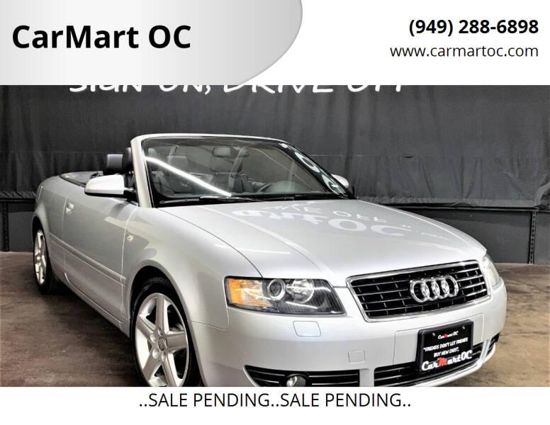 2005 Audi A4 for sale at CarMart OC in Costa Mesa CA