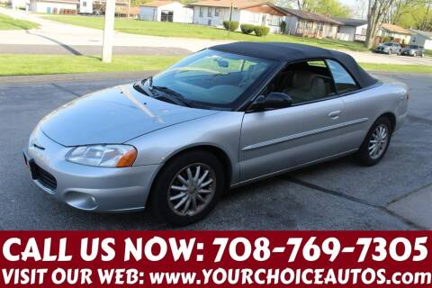 2003 Chrysler Sebring for sale at Your Choice Autos in Posen IL