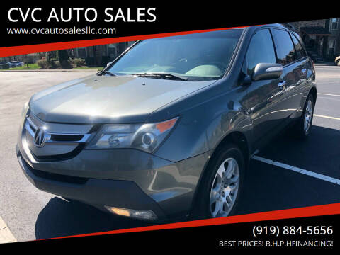 2007 Acura MDX for sale at CVC AUTO SALES in Durham NC