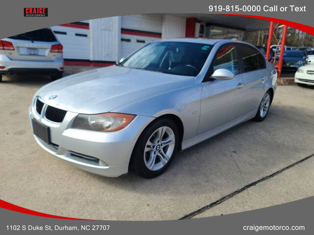 2008 BMW 3 Series for sale at CRAIGE MOTOR CO in Durham NC