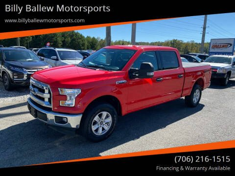 2017 Ford F-150 for sale at Billy Ballew Motorsports in Dawsonville GA