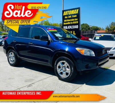 2007 Toyota RAV4 for sale at AUTOMAX ENTERPRISES INC. in Roseville CA