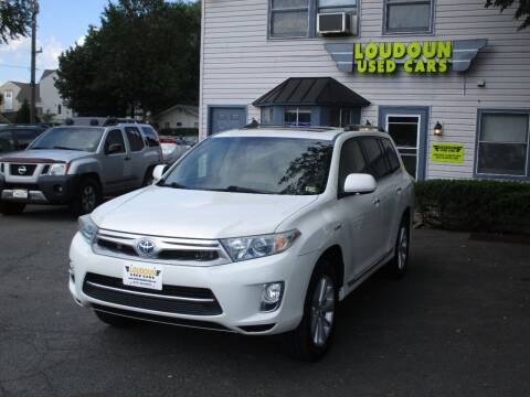 2012 Toyota Highlander Hybrid for sale at Loudoun Used Cars in Leesburg VA
