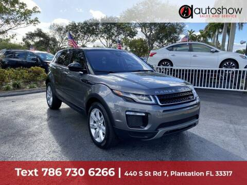 2017 Land Rover Range Rover Evoque for sale at AUTOSHOW SALES & SERVICE in Plantation FL