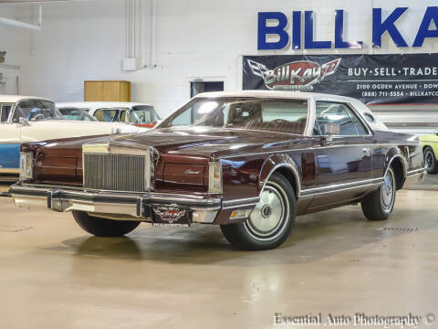 1977 Lincoln Continental for sale at Bill Kay Corvette's and Classic's in Downers Grove IL