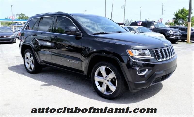 2014 Jeep Grand Cherokee for sale at AUTO CLUB OF MIAMI in Miami FL