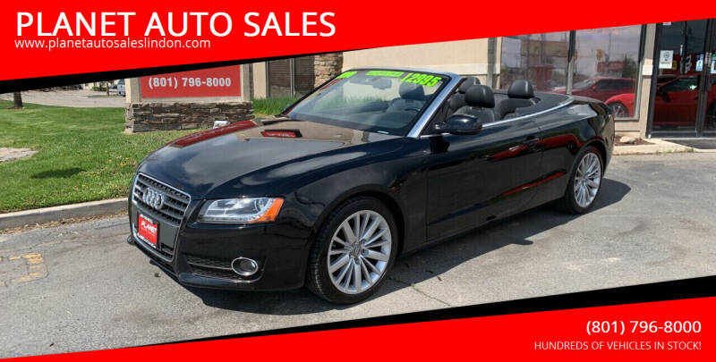 2010 Audi A5 for sale at PLANET AUTO SALES in Lindon UT