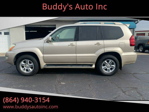 2007 Lexus GX 470 for sale at Buddy's Auto Inc in Pendleton, SC