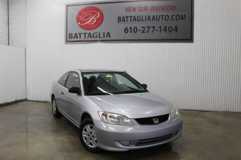 2005 Honda Civic for sale at Battaglia Auto Sales in Plymouth Meeting PA