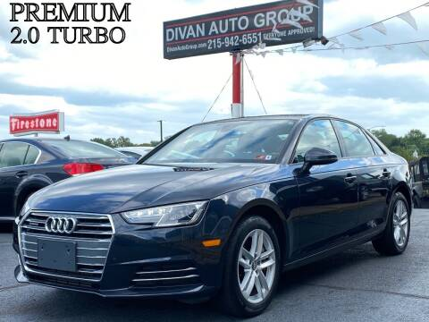 2017 Audi A4 for sale at Divan Auto Group in Feasterville PA