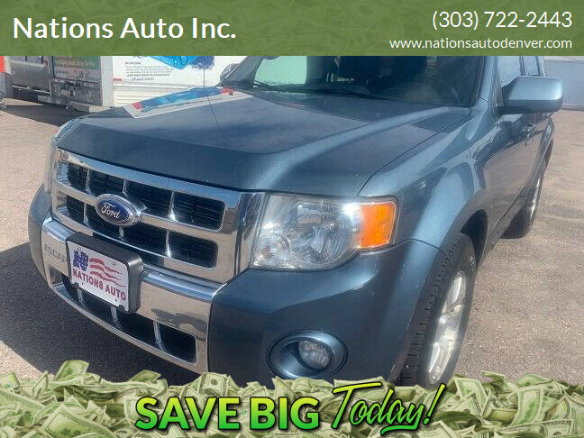 2011 Ford Escape for sale at Nations Auto Inc. in Denver CO