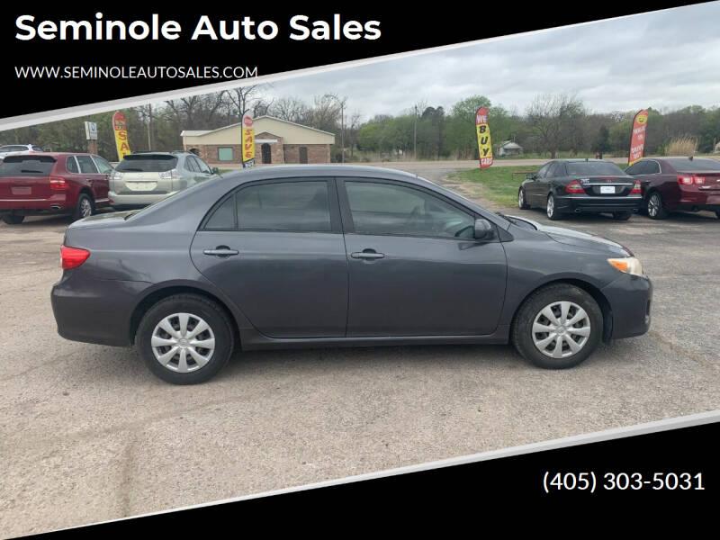 2011 Toyota Corolla for sale at Seminole Auto Sales in Seminole OK