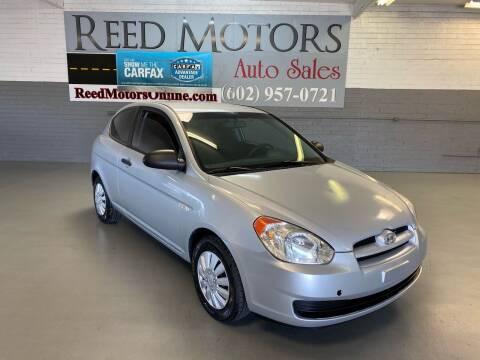 2007 Hyundai Accent for sale at REED MOTORS LLC in Phoenix AZ