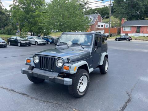 2001 Jeep Wrangler for sale at KP'S Cars in Staunton VA