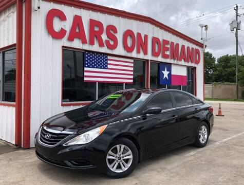2013 Hyundai Sonata for sale at Cars On Demand 3 in Pasadena TX