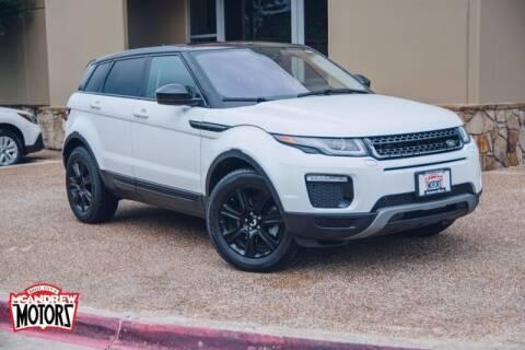 2016 Land Rover Range Rover Evoque for sale at Mcandrew Motors in Arlington TX