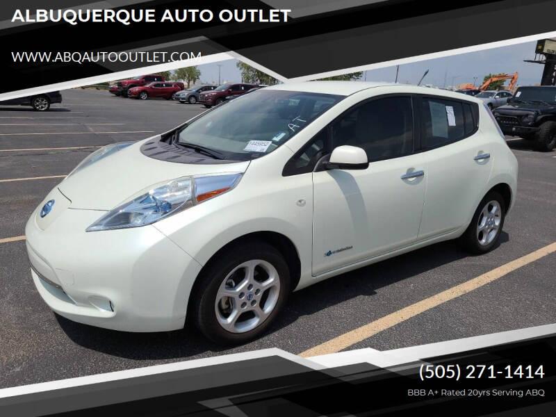 2012 Nissan LEAF for sale at ALBUQUERQUE AUTO OUTLET in Albuquerque NM