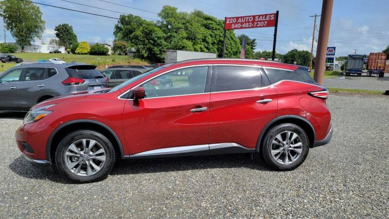 2018 Nissan Murano for sale at 220 Auto Sales in Rocky Mount VA