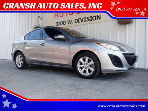 2011 Mazda MAZDA3 for sale at CRANSH AUTO SALES, INC in Arlington TX