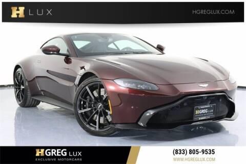 2020 Aston Martin Vantage for sale at HGREG LUX EXCLUSIVE MOTORCARS in Pompano Beach FL