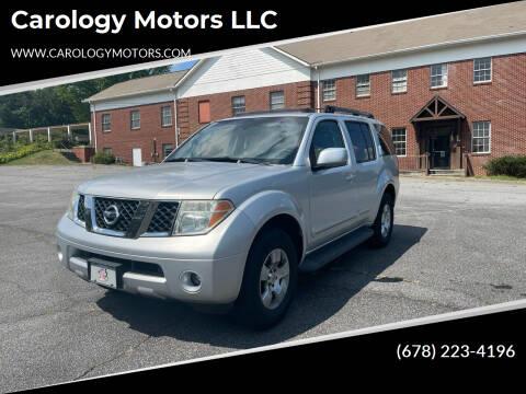 2006 Nissan Pathfinder for sale at Carology Motors LLC in Marietta GA