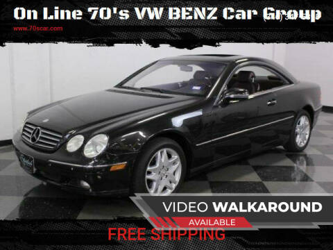 2001 Mercedes-Benz CL-Class for sale at On Line VW BENZ 70'sCar Group in Warehouse CA
