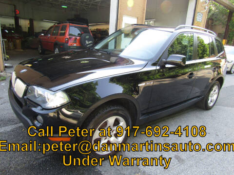 2007 BMW X3 for sale at Dan Martin's Auto Depot LTD in Yonkers NY