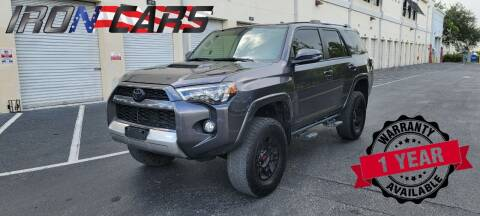 2018 Toyota 4Runner for sale at IRON CARS in Hollywood FL
