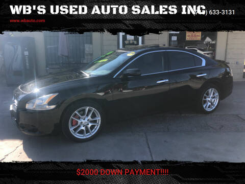 2014 Nissan Maxima for sale at WB'S USED AUTO SALES INC in Houston TX