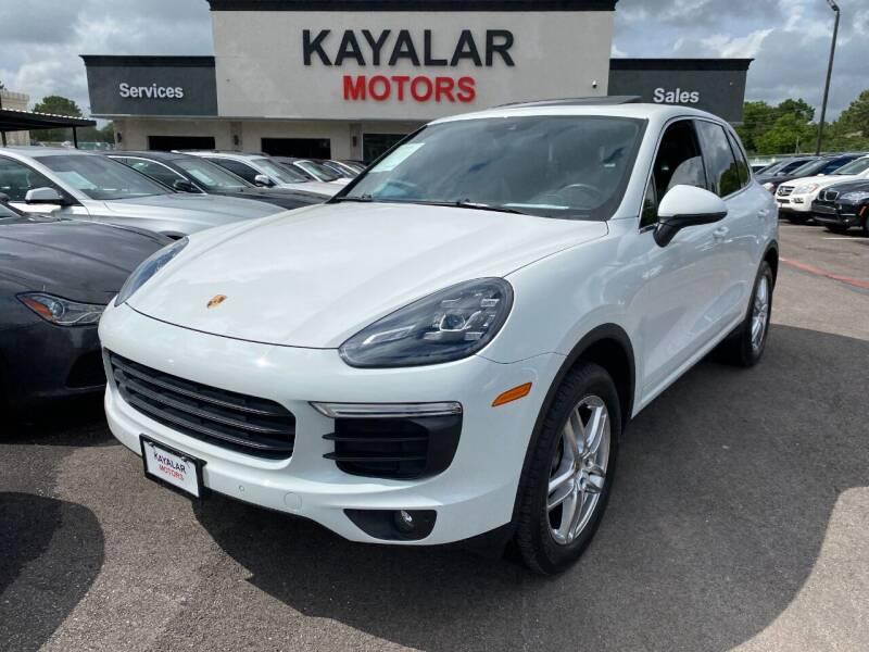 2016 Porsche Cayenne for sale at KAYALAR MOTORS in Houston TX