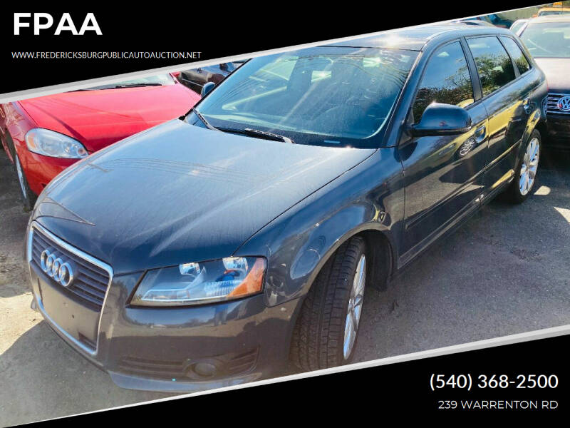 2009 Audi A3 for sale at FPAA in Fredericksburg VA