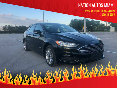 2017 Ford Fusion Hybrid for sale at Nation Autos Miami in Hialeah FL